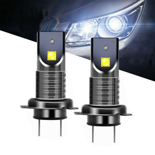 2x H7 Car CREE 2SMD 360° LED Headlight DRL Foglight Canbus Error Free Lamps 20W