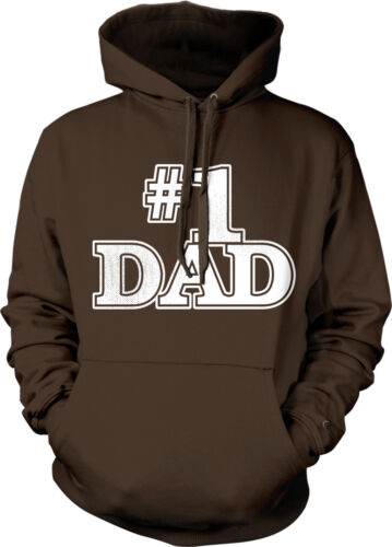 Father/'s Day Papa Father Daddy Dad Number One Hoodie Pullover #1 Dad