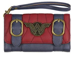 DC Comics Wonder Woman Front Flap Satchel Clutch Wallet with Wrist Strap