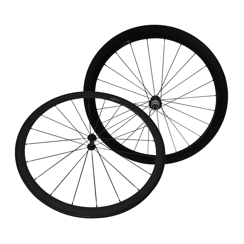 U Shape Mixed Depth Carbon Clincher Wheels Front 38 50 60mm Rear 50 60 88mm