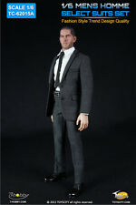 1/6 Custom Mens Homme Select Grey Suits A for Action Figure by Toys City 62015A