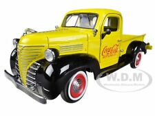 """1941 PLYMOUTH PICKUP TRUCK YELLOW """"COCA COLA"""" 1/24 BY MOTORCITY CLASSICS 439829"""