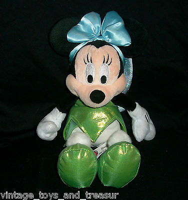 """12"""" BABY MINNIE MOUSE IN TINKERBELL OUTFIT DISNEY STUFFED ANIMAL PLUSH TOY DOLL"""