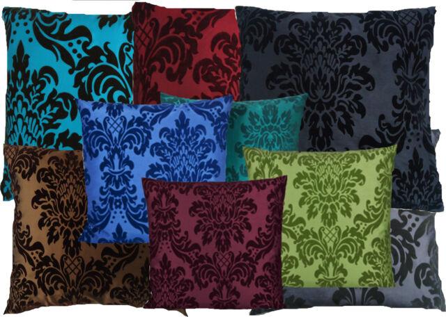 Barock (Kissen) Kissenhülle 40 - 50 - 60 cm viele Farben Bsp. rot grau schwarz