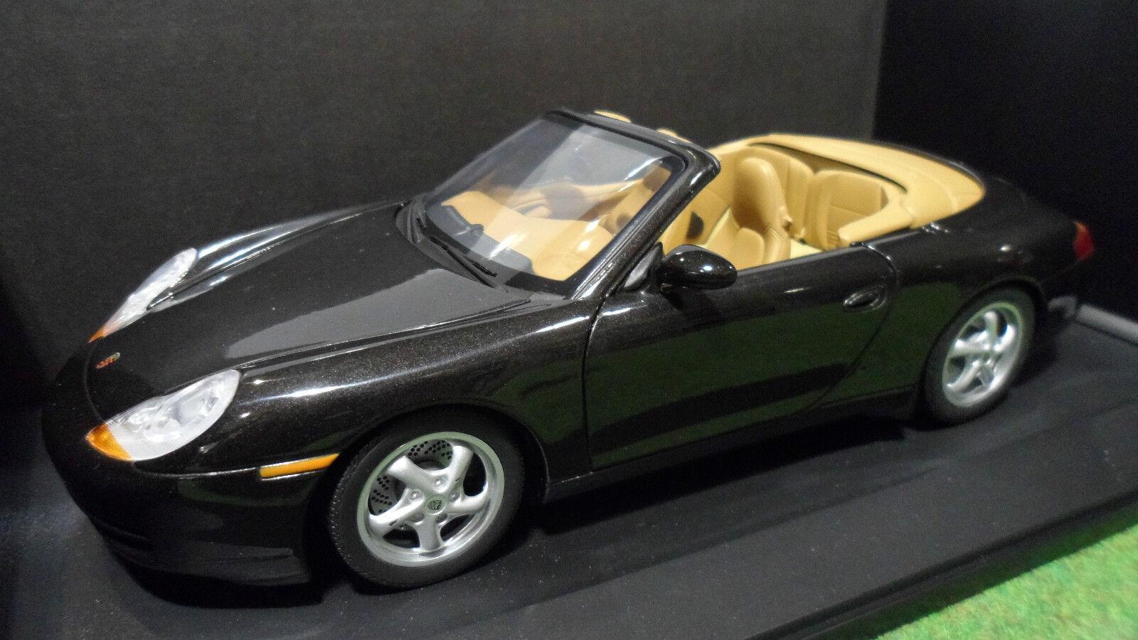 PORSCHE 911 CARRERA CABRIOLET 996 nero 1 18 UT Models WAP02100997 voiture