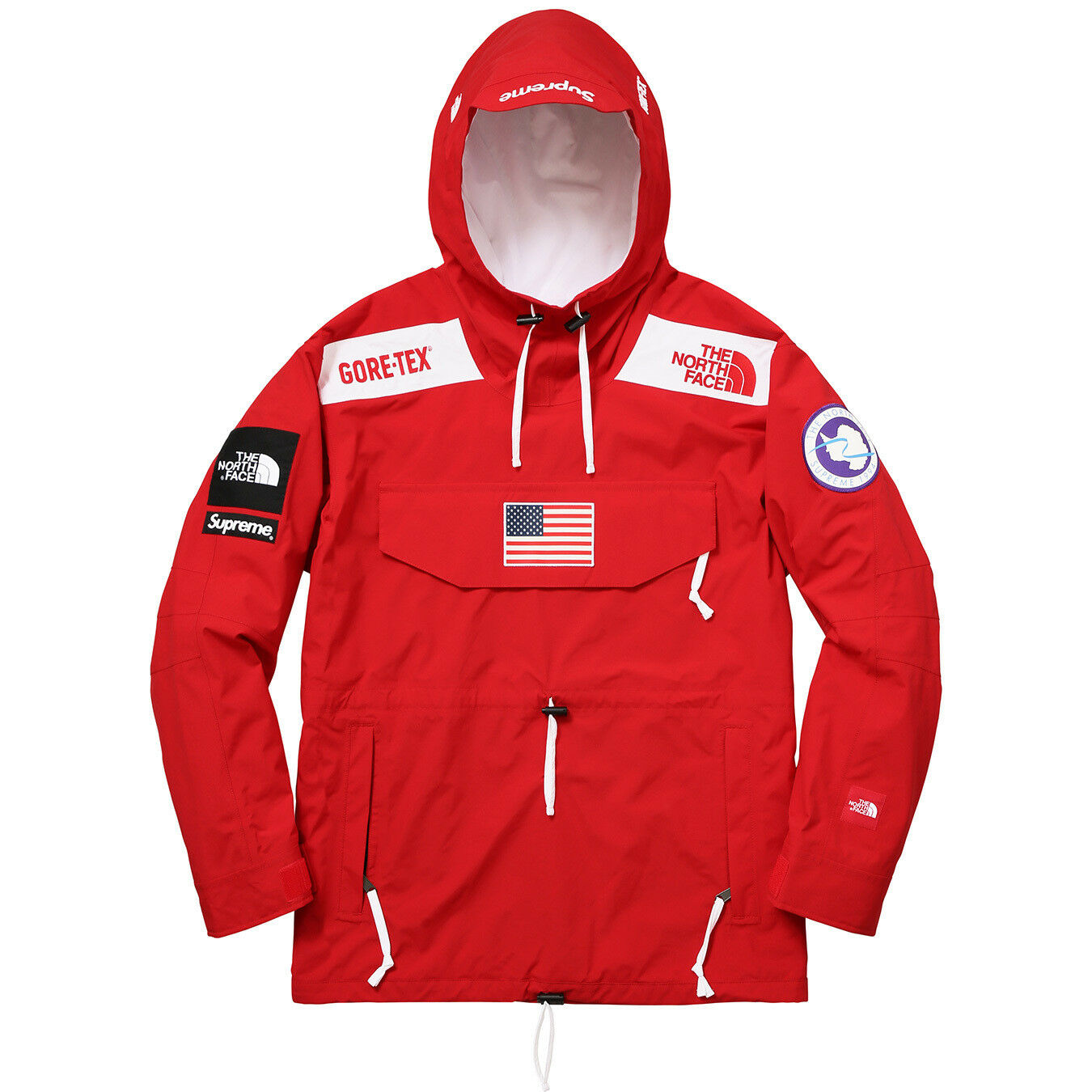 Supreme The North Face Trans Antartica Expedition Pullover ROT (Größe M) S/S 2017