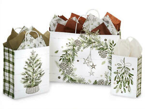 PINE-HOLIDAY-Shopping-Gift-Paper-Bag-Only-Choose-Size-amp-Pack-Amount