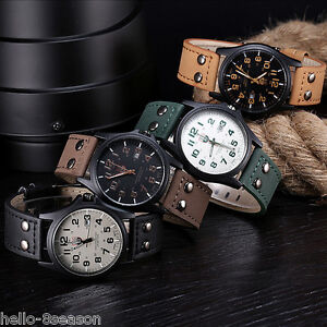 Men-Fashion-Military-Sports-Analog-Quartz-Wrist-Watch-Faux-Leather-Date-Watch-DS