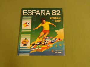 FOOTBALL-PANINI-STICKER-ALBUM-NOT-COMPLETE-WORLD-CUP-ESPANA-82