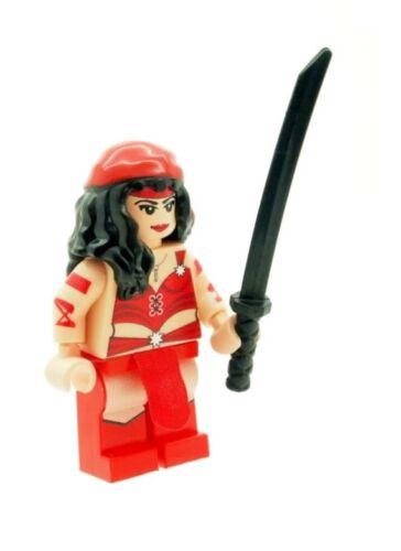 Custom Designed Minifigure Elektra Superhero Printed On LEGO Parts