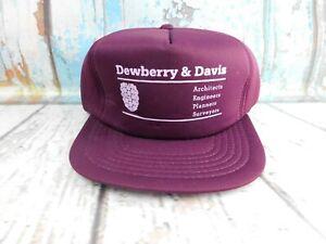 Vtg Dewberry & Davis Architects Engineers Surveyors Trucker Dad Snapback Hat