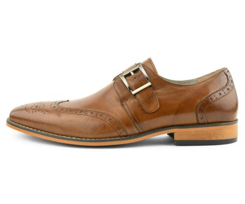 Asher Green Mens Genuine Leather Burnished Wingtip Lace-Up Oxford Style AG039