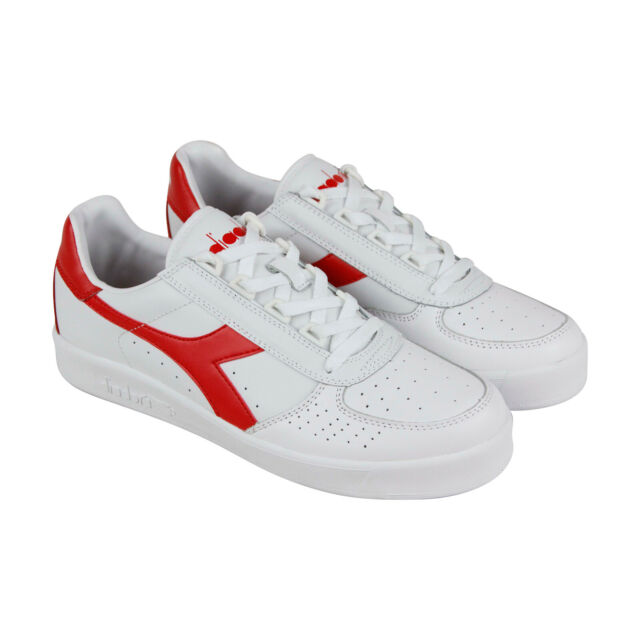 15075bb0 Diadora B.Elite Mens White Leather Low Top Lace Up Sneakers Shoes