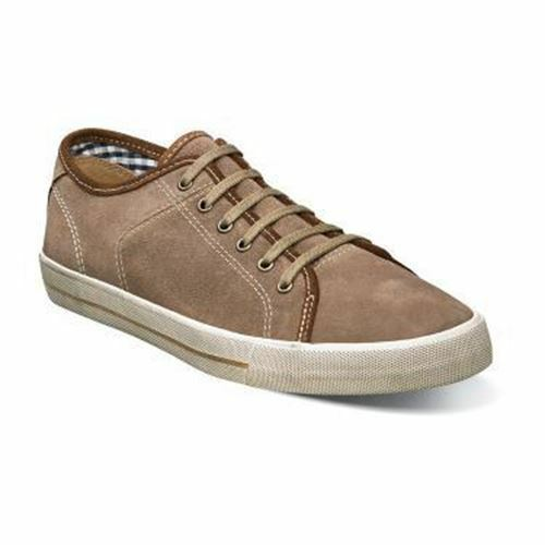 Florsheim Sneaker Flash Plain Toe Lace Up Mens shoes Stone Suede  15105-275