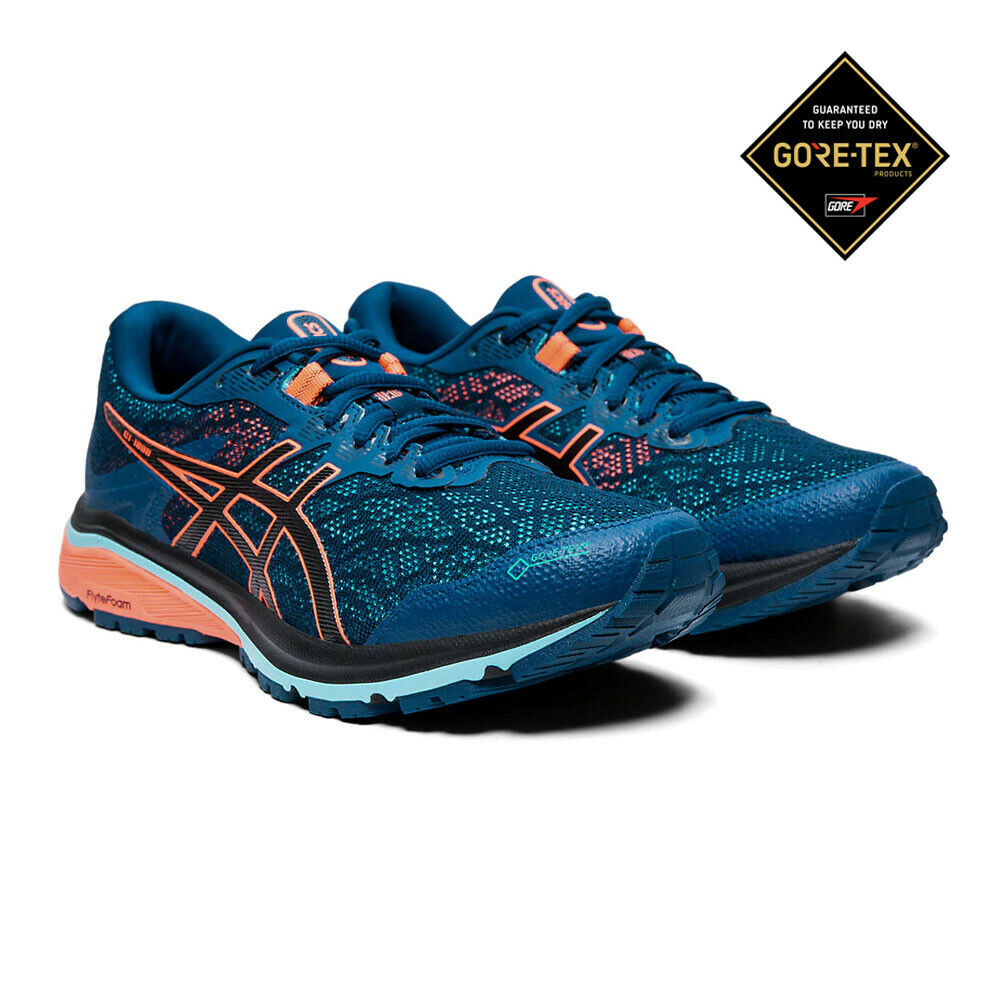 Asics Womens GT-1000 8 GORE-TEX Running shoes Trainers Sneakers - Navy bluee