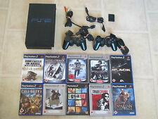 Playstation 2 Konsole komplett mit 10 Gratis Spiele + 2 Controller PS 2 (USK 18)