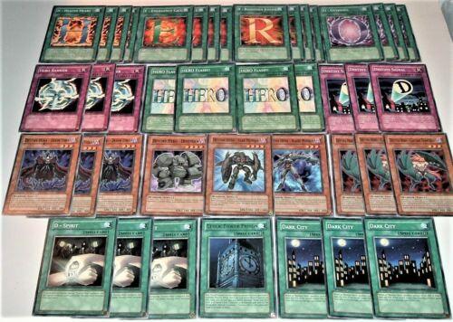 Emergency Call NM//MINT 42 Card LOT Yugioh Destiny Hero and Elemental Set 4X,E