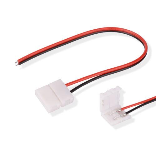 10pcs Connecteur de Bande LED Câble 5050 5630 Adapteur pour Panneau LED 10MM