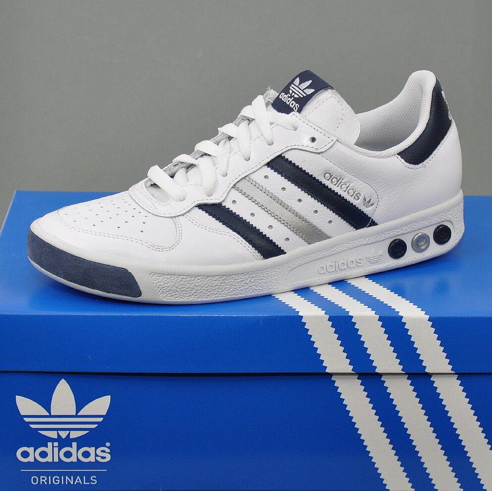 Adidas G.S. II Tennis Grand Slam Herren Sneaker Leder Schuhe White/Navy - G45664