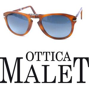 Sunglasses Blu Havana 714 Polarized Pieghevole Light S3 52 Polarizzato Persol tx0IZqwA4x