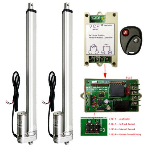 "2 Set 16/"" Linear Actuators 1500N 330lbs 4mm//s DC12V Motor W// Wireless Controller"