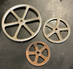 Set-Of-3-X-Genuine-Vintage-Wheels-To-Suit-Tin-Toys-Model-Cars-Steam-Engine-etc