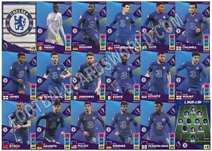 Panini Premier League 2021/22 21/22 ADRENALYN XL Chelsea 18 Conjunto de Equipo de tarjeta