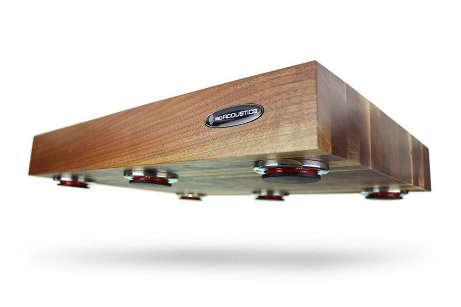 IsoAcoustics Delos 1815W2   Turntable Isolation Board (Walnut)   Pro Audio LA