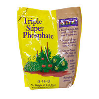 Plant Fertilizer Phosphorous Triple Super Phosphate 0-45-0 Stimulates Roots 4lb