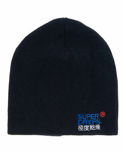 Neue Superdry SD-Windhiker Embroidery True Track Dunkelblau