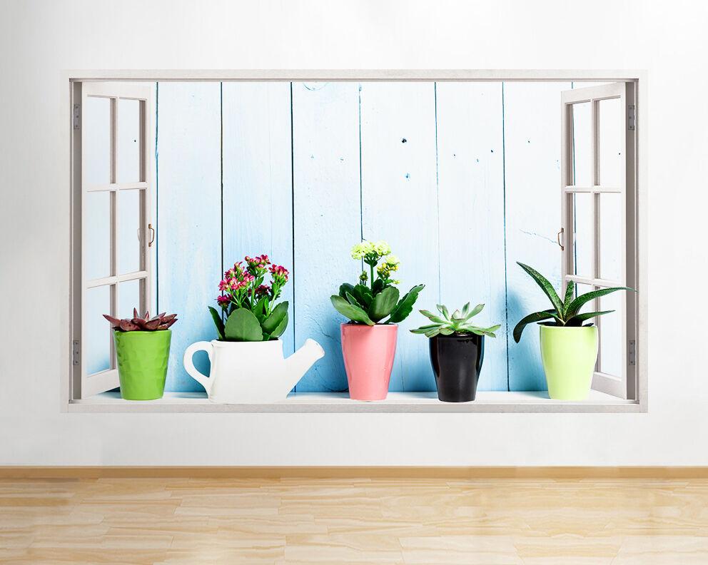 Q639 delle piante Vasi natura vivente Sala dell adesivo da parete camera bambini