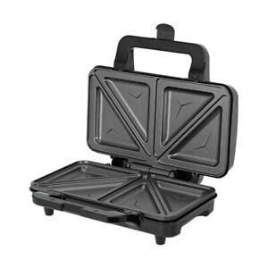 Sandwichera eléctrica para 2 sandwiches en triángulo Acero Inoxidable 900W MPM