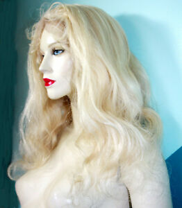 REAL-Human-Hair-Remi-Remy-Full-Lace-Wig-Wigs-Indian-Light-Blonde-Long-Body-Wave