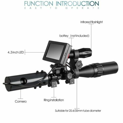DIY Night Vision Scope Digital Camera For Rifle Scope With IR Torch /& Monitor