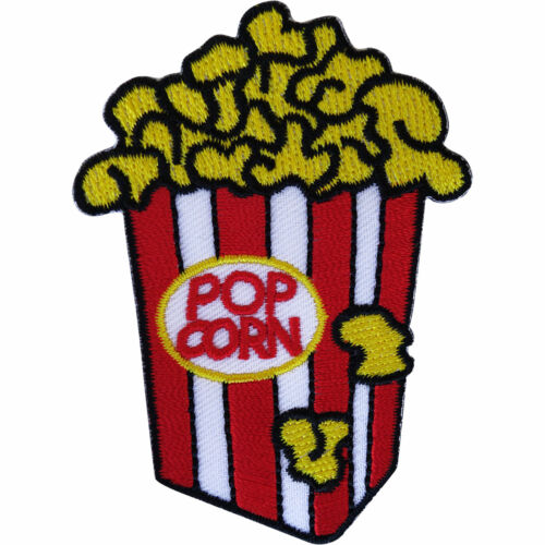 Popcorn Patch Iron On Sew On Clothes Bags Embroidered Badge Embroidery Applique