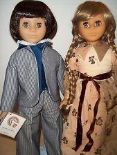 """Vintage France CR Club Compagnie Du Jouet Boy & Girl Dolls - 20"""" Tall"""