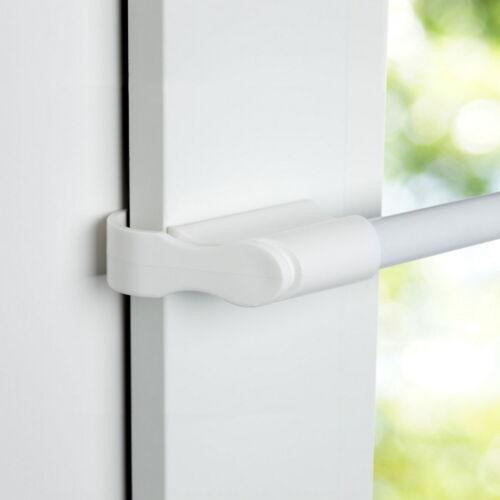 Klemmstange Gardinenstage ausziehbar für Fenster Scheibenstange ohne Bohren weiß