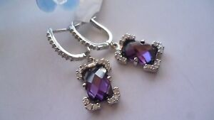 STUNNING-GENUINE-925-STERLING-SILVER-ZIRCONIA-EARRINGS-MADE-IN-ITALY