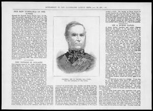 1881-Antique-Print-PORTRAIT-London-General-Richard-Dacres-Constable-Tower-35