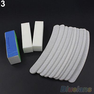 Deluxe 13pcs/Set Nail Art Sanding Files Buffers Blocks Manicure UV Gel Tool DIY
