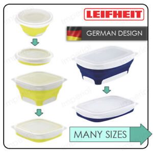 LEIFHEIT-COLLAPSIBLE-Folding-Flat-Food-Stoarge-Container-Lunch-Box-Bowl-Set-UK