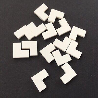 Fliesenecke in 1x2x2 Farbe weiss Neuware. 4 x LEGO® 14719 Systemstein