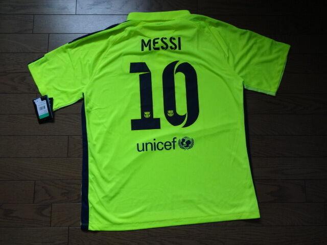 57758340e Auth Nike FC Barcelona 3rd Stadium Volt Soccer Jersey Mens Shirt XL ...