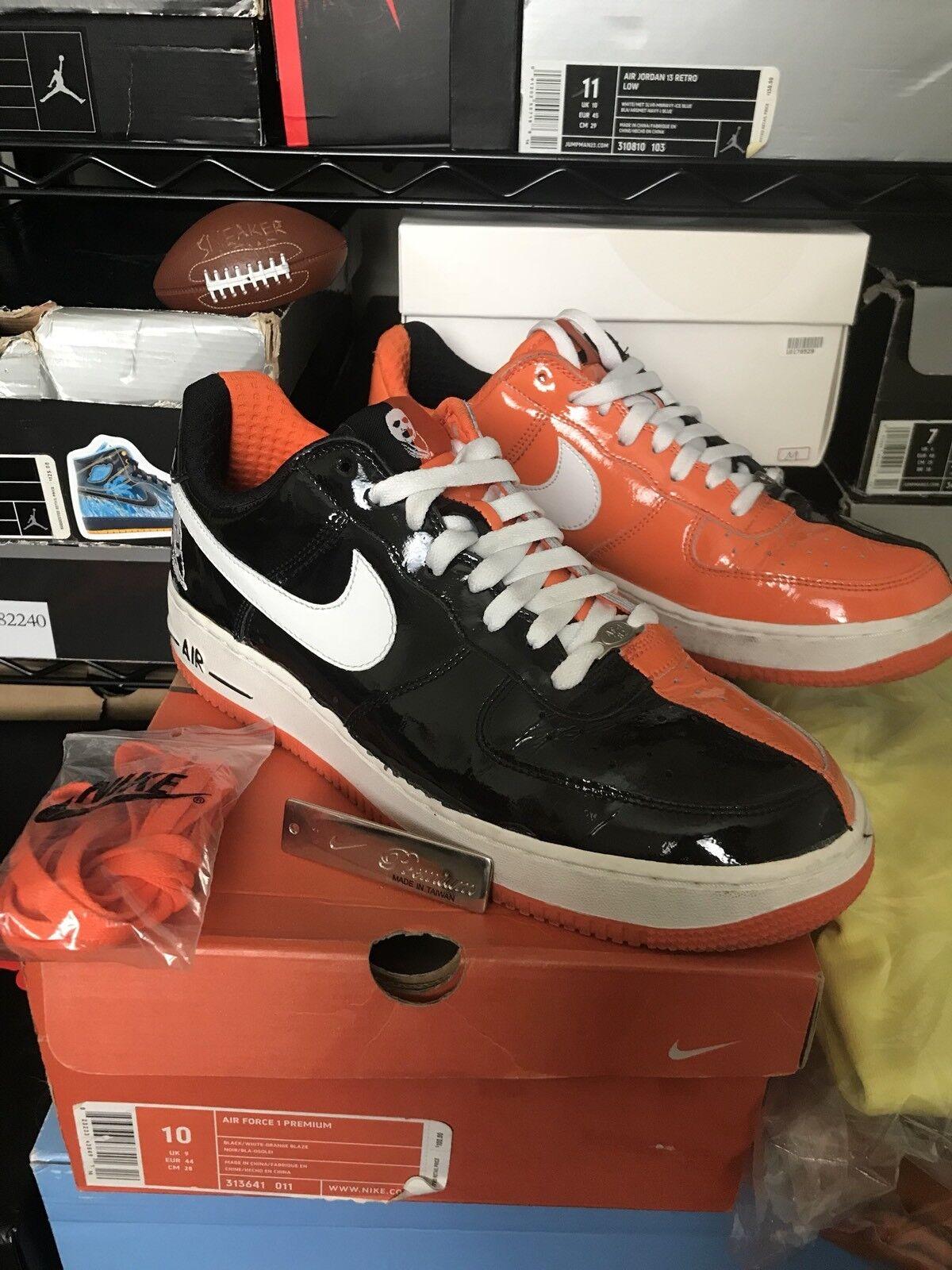 2018 Nike Air Force 1 Premium HALLOWEEN BLACK ORANGE WHITE 313641-011 Size 10