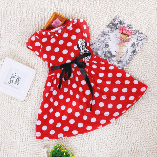 Baby Kids Girls Mickey Minnie Mouse Princess Dress Casual Party Fancy Costume