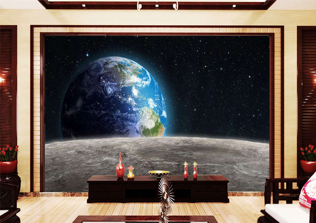 Beautiful Blau Planet 3D Full Wall Mural Photo Wallpaper Print Home Kids Decor