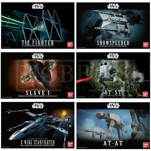 Bandai-Star-Wars-MODEL-KITS-X-Wing-Tie-Fighter-AT-ST-AT-AT-Slave-1-REVELL