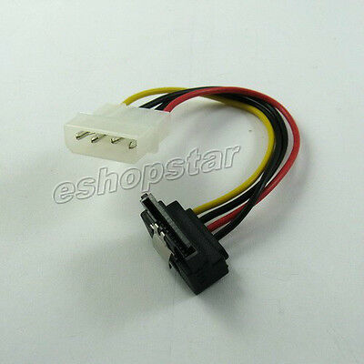 4P IDE to Right-Angle Serial ATA SATA HDD  Power Cable