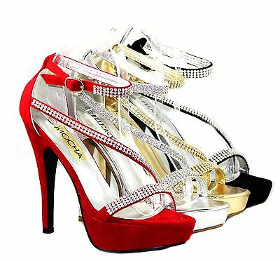 ava-44 New Fashion Blink Wedding Party Prom 5.5 inch Women's High Heel Shoes