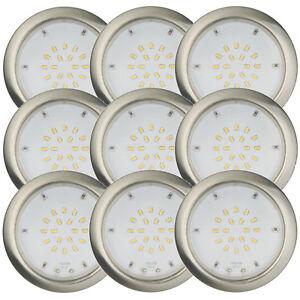 9er-Set-LED-2-2W-Einbaustrahler-Einbauleuchte-Feuchtraum-Warmweiss-Nickel-IP44